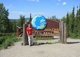 Aaron at the Arctic Circle in Alaska