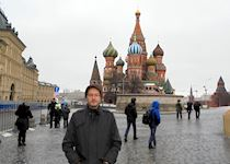 Chris in Red Square, Moscow