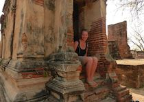 Harriet exploring the ancient temples of Ayuthaya, Thailand